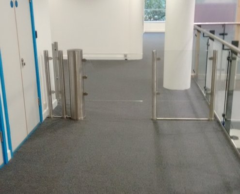 EA Glass Swing Gate installed at Kensigton Academy
