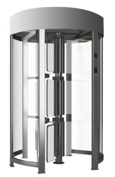 Full height glass turnstile