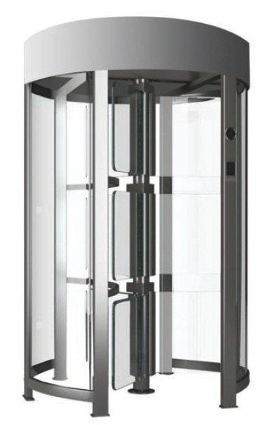 Full height glass turnstile