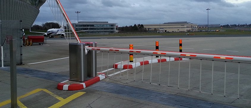 Automatic Security Barriers supplied and installed by EA Group UK Limited