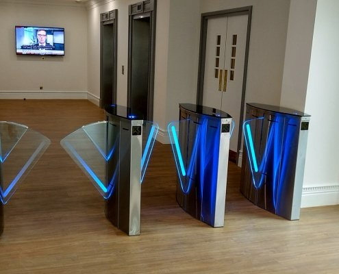 SpeedLane Speed Gate fitted in an office reception