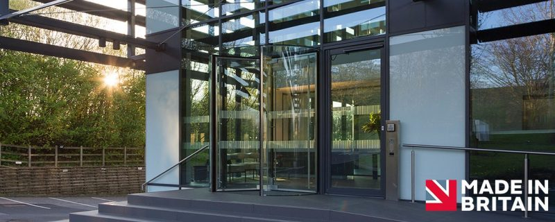 Our British Made All-Glass Revolving Door