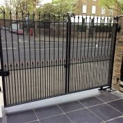 A residential gate upgraded to incorporate the latest safety standards.