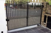 EA Group upgrade an existing vehicle gate in London to meet BS EN12453