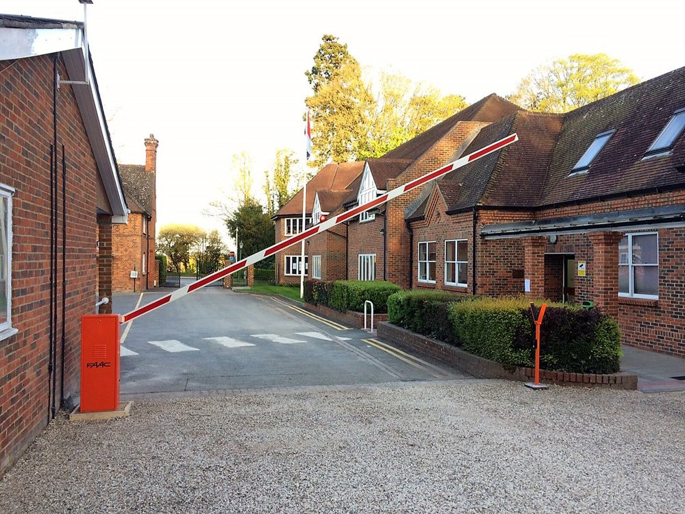 EA Group installed FAAC 640 Automatic Barrier at Cheam School