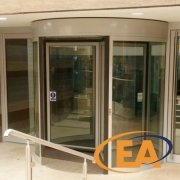 An EA Revolving Door installed at a London Hotel