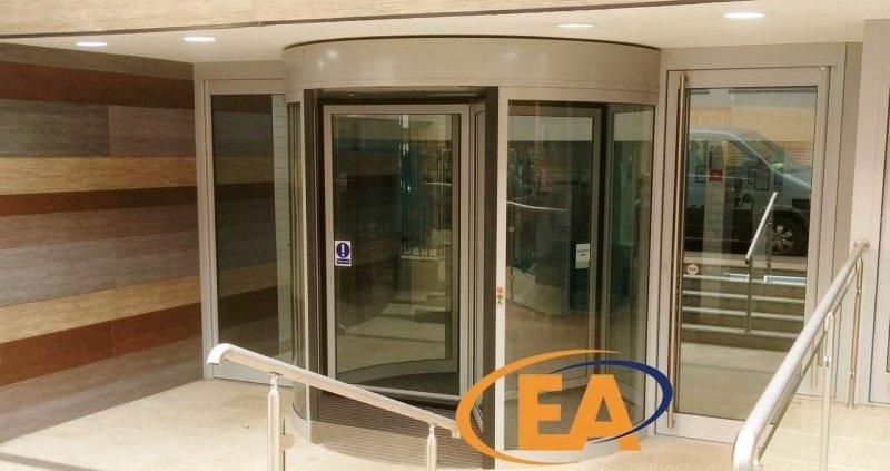 An EA Revolving Door installed at a London Hotel