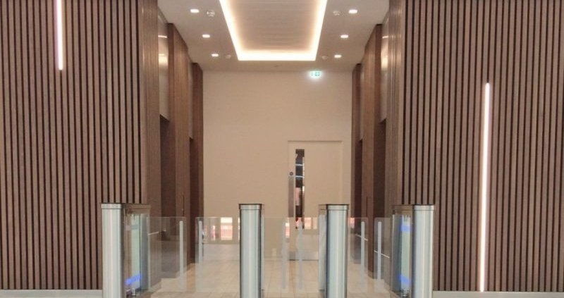 Speed Lane turnstiles installed at Observatory House Slough