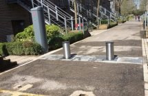 Security Bollards at the University of Winchester