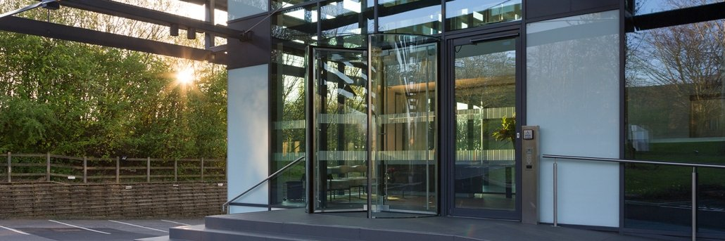 1eaae222eaa All Glass Revolving Doors Manufactured In The UK – EA Group UK