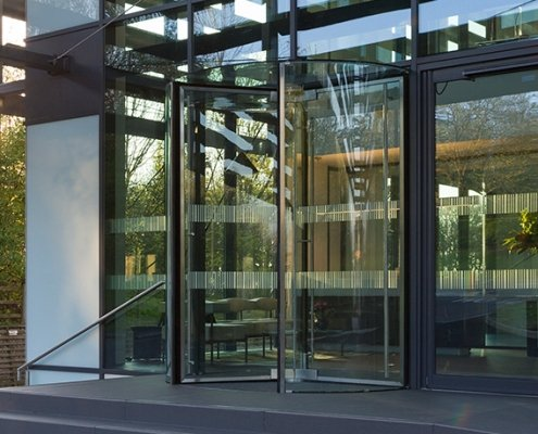 Glass Revolving Door installed by EA Group UK