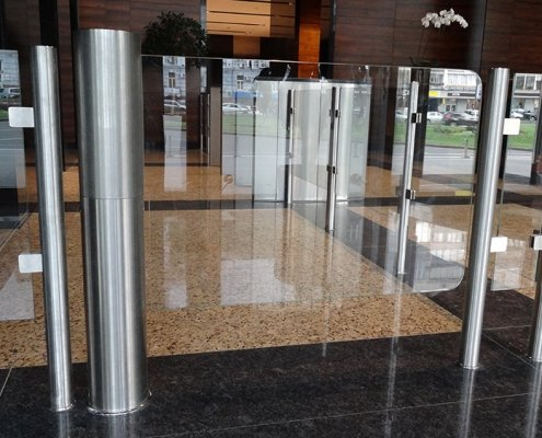 EA Glass Swing Gate model turnstile