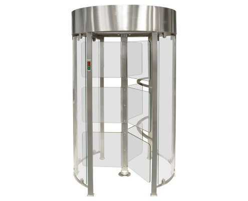 EA Glass Pass Full Height Security Turnstile