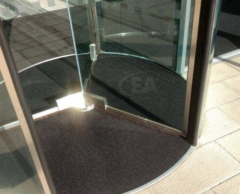EA Push and Go Semi-Automatic Revolving Door floor carpet