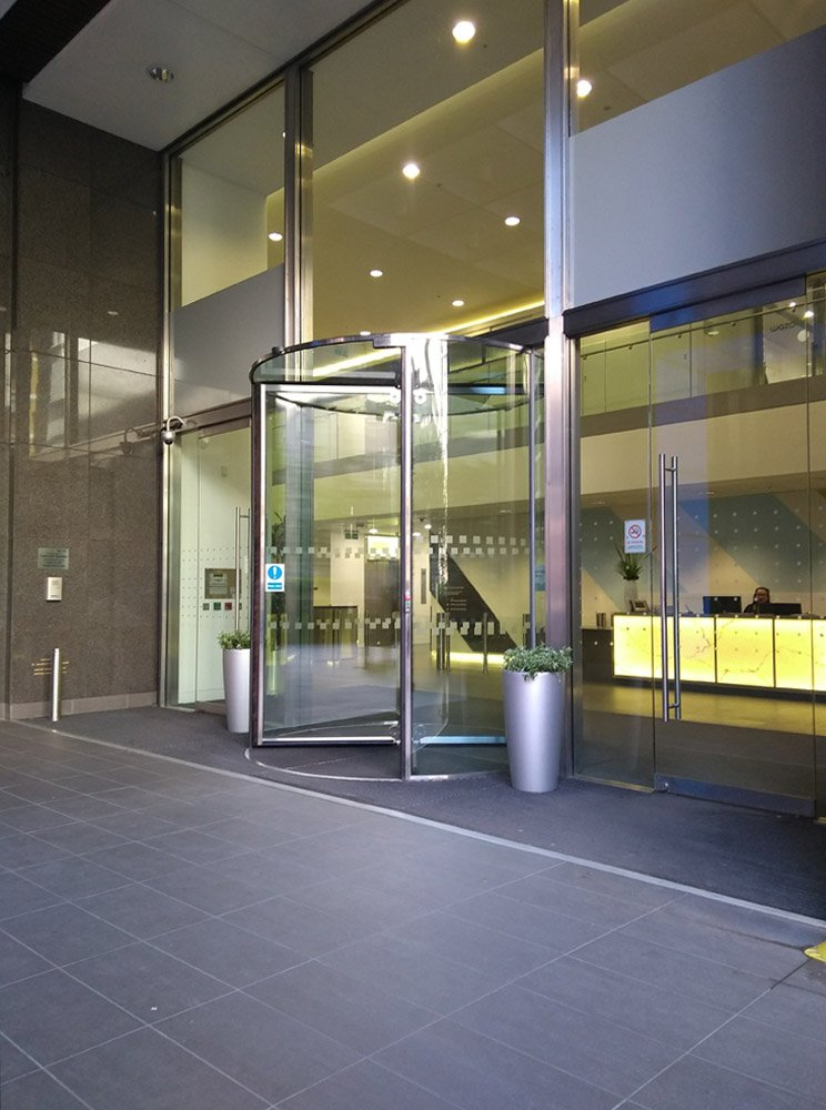 EA Revolving Door installation at St Magnus House London