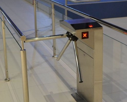 EA Rotary Turnstile installed within a leisure complex