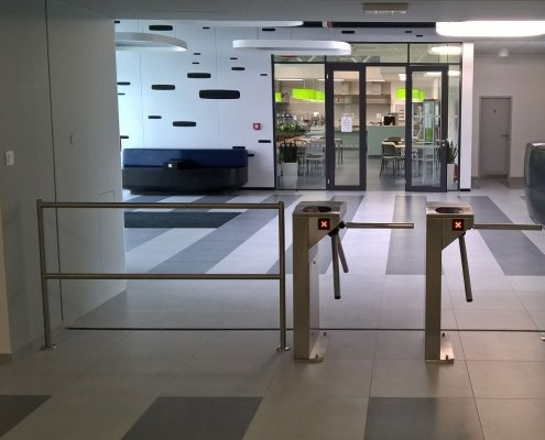 EA Rotary Turnstile installed within an office area