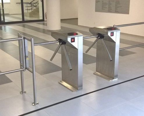EA Rotary Turnstile installed at a commercial building
