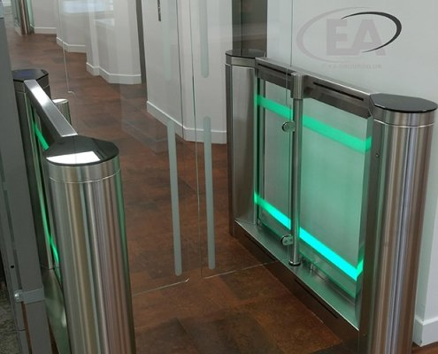 EA Swing High Glass Speed Gate model turnstile