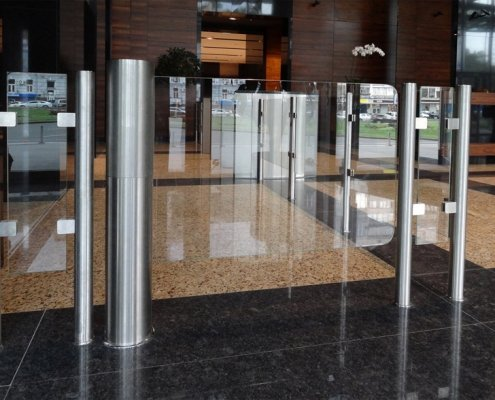 EA Glass Swing Gate Turnstile