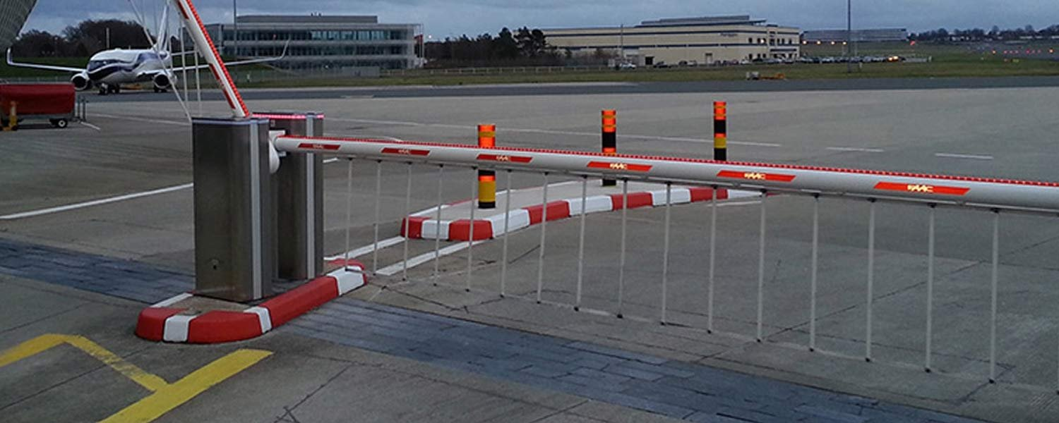Security Barriers installed at an airport by EA Group