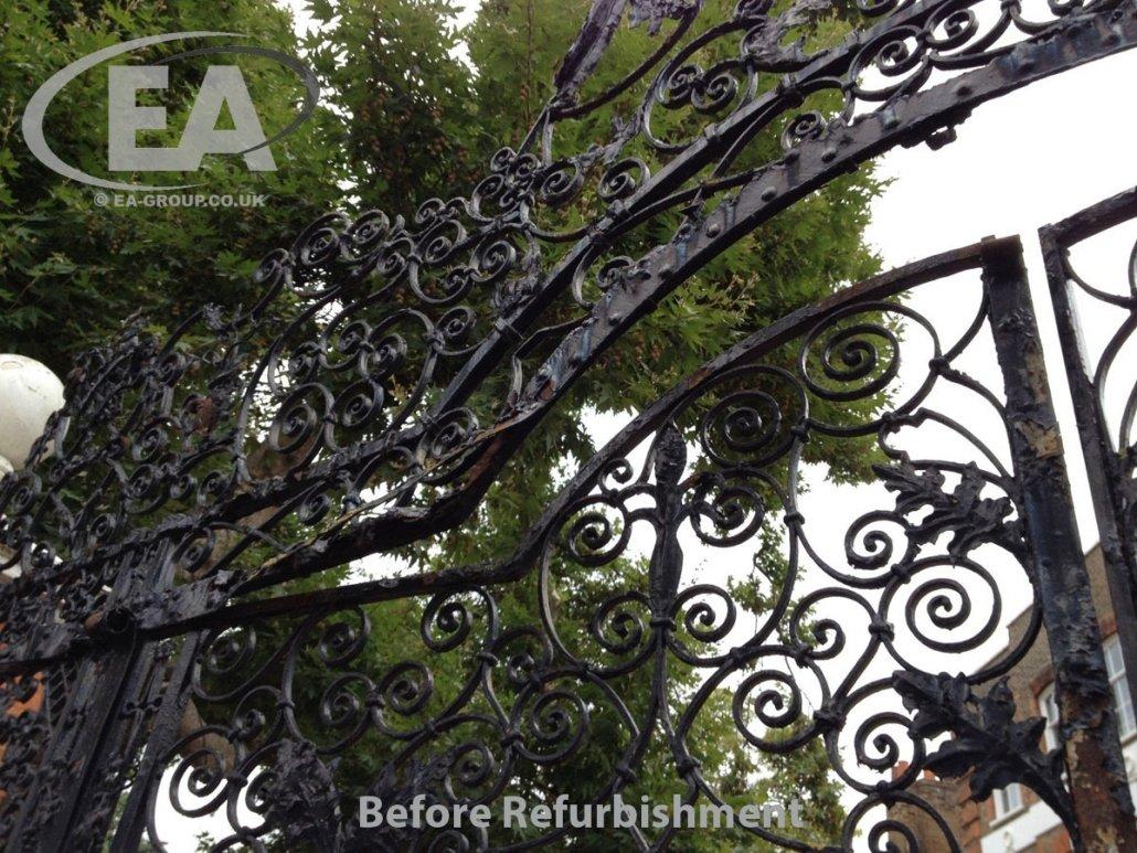 Montrose House Heritage Gates before refurbishment