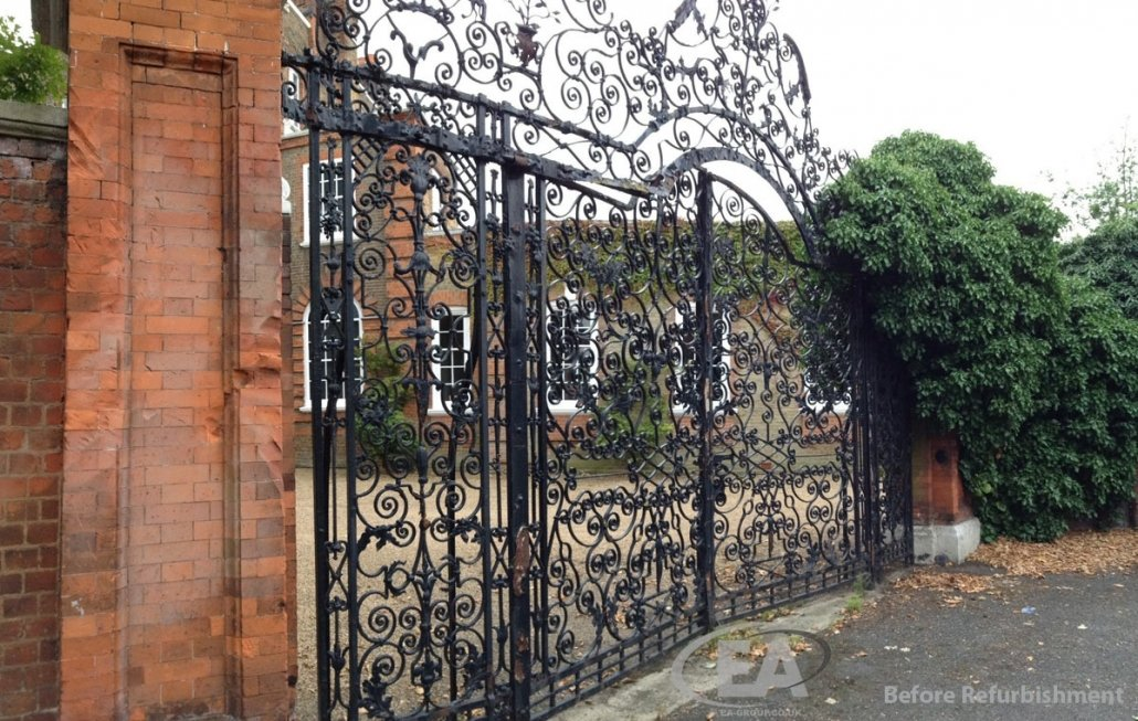 Montrose House Heritage Gates before refurbishment