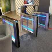EA Swing Lane-S Speedgate installed within a lobby of a corporate Head Office