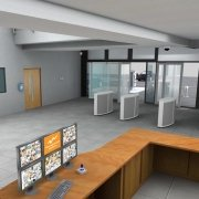 Various security entrance solutions integrated